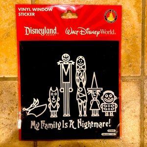 Disney Window Stickers-Nightmare Cefore Christmas